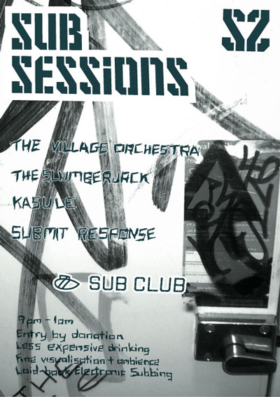 Sub Sessions flyer