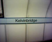 Kelvinbridge tube station sign