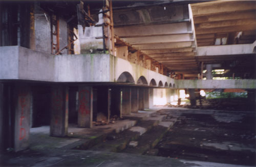 The main hall, from the ground floor