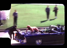 Still from the Zapruder film of JFK's assasination