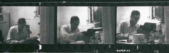 Burroughs at his writing machine